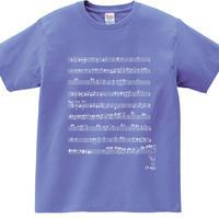 言葉にできない楽譜Tシャツ/ダスティブルー