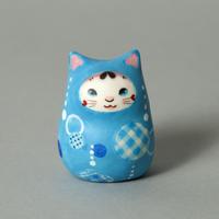 松本浩子「猫ひめだるま《青》」②