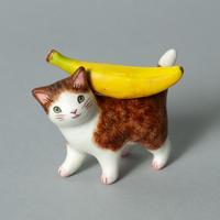 松本浩子「お使いネコさん《バナナ》」