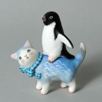 松本浩子「お使いネコさん《ペンギン》」