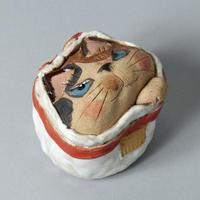 岡村洋子「猫かぶり・開運猫袋」