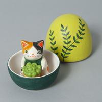 天野千恵美「ガーデンニング卵猫」三毛