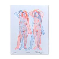 """Untitled, 2019 (man+woman)"" Riso Print by Dan Gluibizzi"