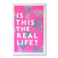 """""""IS THIS THE REAL LIFE?"""" Riso Print by Margherita Urbani"""