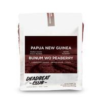 "Deadbeat Club Coffee ""PAPUA NEW GUINEA - BUNUM WO PEABERRY"""