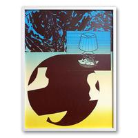 """Lamp World"" Screen Print by Alicia Nauta (Collaboration with Eunice Luk) [額装付き]"