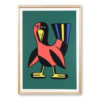"""""""BIRD"""" Screen Print by Andy Rementer [額装付き]"""