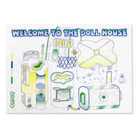 """WELCOME TO THE DOLLHOUSE RISO print series """"Map"""" by ancco"""