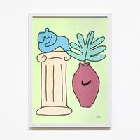 """""""Interior Archive"""" Riso Print by Lilian Martinez [額装付き]"""