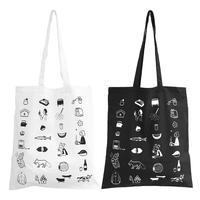 """""""季節の記録"""" Tote Bag by 小幡彩貴 [White / Black]"""