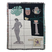 "Mini Blanket ""Museum"" - bfgf"