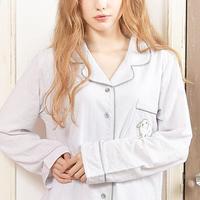 ALLシーズン:長袖【シアー:ラビット刺繍シャツ上下セット】AA-10003-1