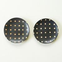 【沖縄のかわいい器】陶factory509 モノクロ皿小 ペア/白四角