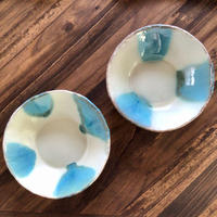 【西表焼青烽窯】沖縄の海を感じる スープ鉢