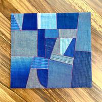 【琉球藍】大人の食卓に似合う琉球藍ポジャギマット
