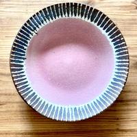 【眞正陶房】大人のやちむん7寸皿 マカロン ピンク