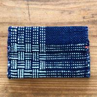 【琉球藍】名刺入れ 花藍舎 やしらみ織り