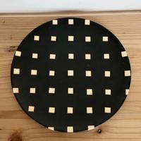 【大人のやちむん】モノクロ皿 大 陶factory509