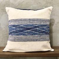 【琉球藍織物】クッションカバー 花藍舎
