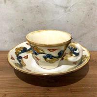 【壺屋焼】國場陶芸 赤絵染付コーヒーカップセット