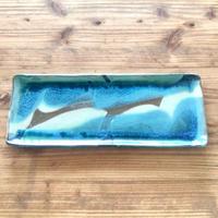 【大人のやちむん】沖縄の海を感じる長板皿 西表焼青烽窯