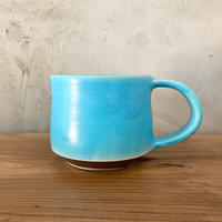 【眞正陶房】大人のマグカップ ターコイズブルー
