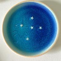 青の煌き 4寸皿