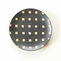 【沖縄のかわいい器】陶factory509 モノクロ皿/白四角