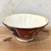 【壺屋焼】赤絵5寸マカイ 國場陶芸