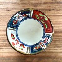 【壺屋焼】國場陶芸 赤絵染付絵皿3.5寸皿