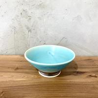 【眞正陶房】ろくろ豆鉢 ターコイズ