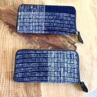 【こだわりを持つ大人の日常に】琉球藍織物「やしらみ長財布」 花藍舎