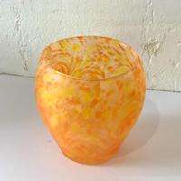 【珍しい琉球ガラス】うずマンゴーロックグラス