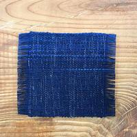 【琉球藍】手織りコースター コスモ 1枚