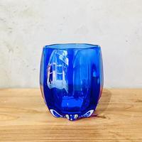 【琉球ガラス】モール樽グラス ブルー 別注品