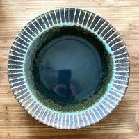【眞正陶房】大人のやちむん7寸皿 マカロン 織部