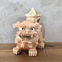 【珍しいシーサー】家付きシーサー(香炉) シーサー陶房大海