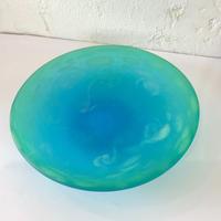 【珍しい琉球ガラス】うずイラブチャー小皿 匠工房