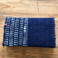 【琉球藍】名刺入れ 花藍舎 やしらみ織り 裏地あり