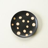 【沖縄のかわいい器】陶factory509 モノクロ皿 /ドット