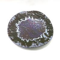 川村今日子 / Wavy -亜鉛華結晶釉大皿-