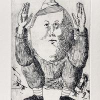ものさし(銅版画)