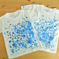 手描きTシャツ(子どもサイズ120/110・おそろいOK) 〔おとと〕