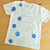 手描きTシャツ(子どもサイズ130) 〔あお〕