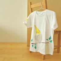 手描きTシャツ(Lサイズ・フルペイント) 〔トリ〕