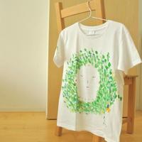 手描きTシャツ(Lサイズ・フルペイント) 〔Faces〕