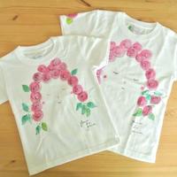 手描きTシャツ(子どもサイズ130/120/110・おそろいOK) 〔Facesバラ〕