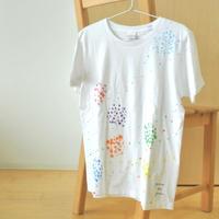 手描きTシャツ(Mサイズ・フルペイント) 〔いろどり〕