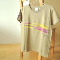 手描きTシャツ(Mサイズ・片面ペイント) 〔カーキ〕