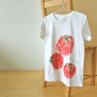 手描きTシャツ(Mサイズ・フルペイント) 〔トマト〕